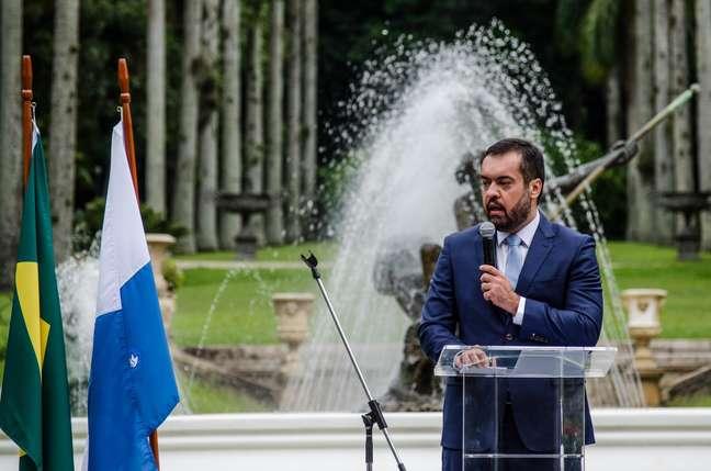 Governador do Rio, Claudio Castro recebe visita de Bolsonaro