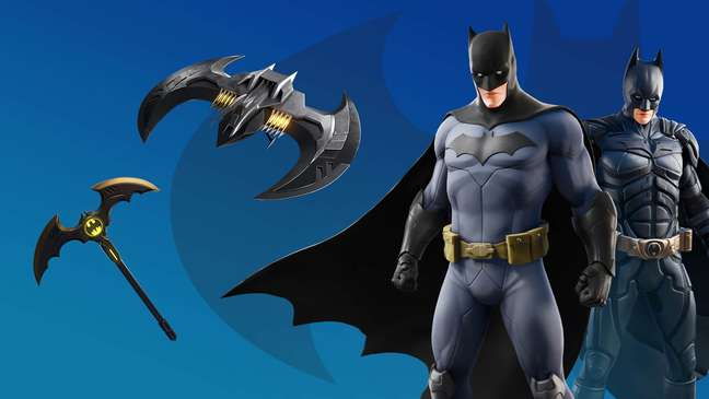 Trajes anteriores de Batman em Fortnite