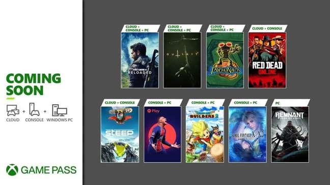 Jogos do Xbox Game Pass.