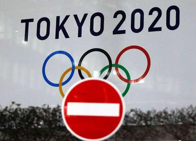 Logo da Olimpíada Tóquio-2020 em Tóquio 22/01/2021 REUTERS/Issei Kato