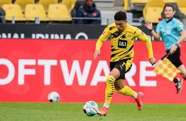 Sancho foi o cara do jogo, com dois gols na vitória do Dortmund (Foto: Divulgação/Borussia Dortmund)