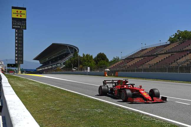Charles Leclerclargou na quarta posição no GP da Espanha