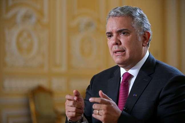 Presidente da Colômbia, Iván Duque, durante entrevista à Reuters em Bogotá REUTERS/Luisa Gonzalez
