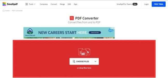 O Small PDF é uma solução para conversão online de arquivos para PDF
