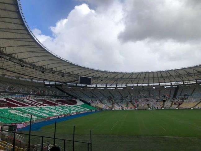 Fluminense volta a jogar pela Libertadores nesta quarta, contra o Santa Fé (COL), no Maracanã (Foto: Reprodução)