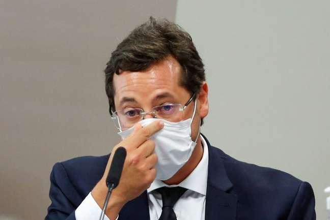 Ex-secretário de Comunicação Social da Presidência da República Fabio Wajngarten presta depoimento à CPI da Covid no Senado 12/05/2021 REUTERS/Adriano Machado