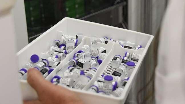 Doses da vacina da Pfizer; empresa afirmou que governo federal rejeitou compra de 70 milhões de doses no ano passado