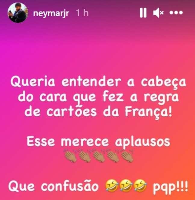 Após suspensão, Neymar se manifesta nas redes sociais