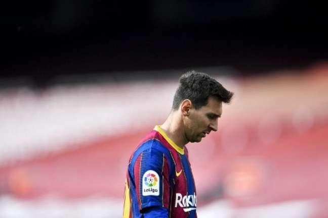 Messi marcou o único gol do Barça (Foto: Pau BARRENA / AFP)