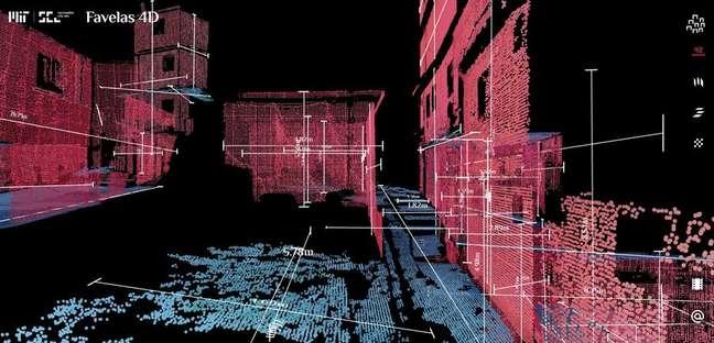 Projeto usa digitalização a laser 3D para analisar morfologia da Rocinha.