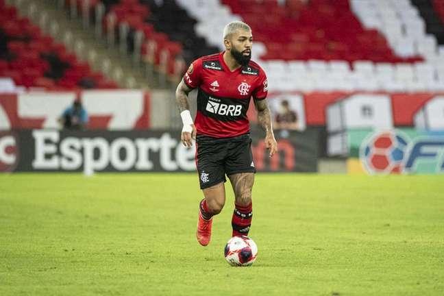 Gabigol em ação na partida contra o Fluminense (Foto: Alexandre Vidal/Flamengo)