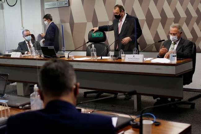 Reunião da CPI da Covid no Senado 11/05/2021 REUTERS/Adriano Machado