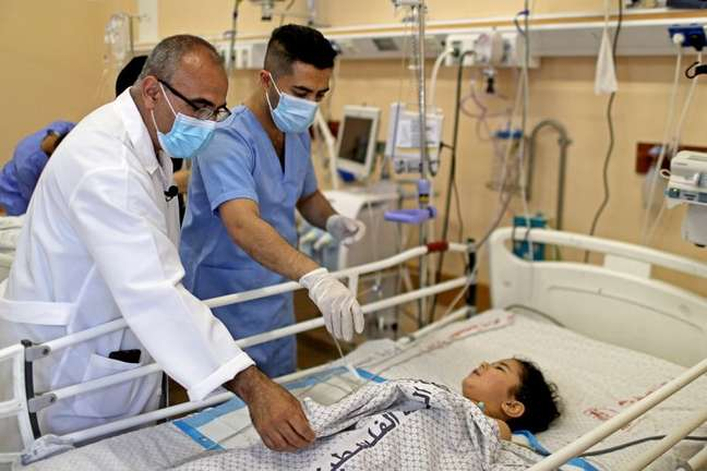 Hospital Shifa em Gaza  17/5/2021   REUTERS/Mohammed Salem