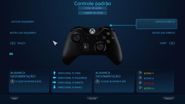 Como remapear controles no PC pelo Steam