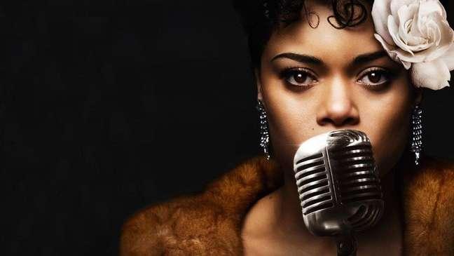 """Andra Day em """"Os EUA vs Billie Holiday"""""""