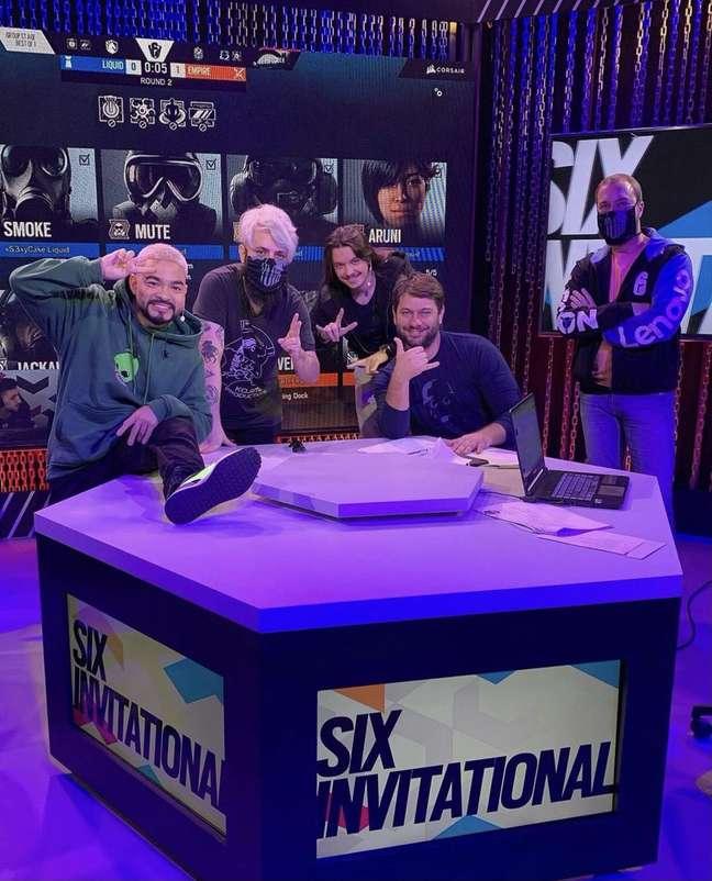 Equipe de transmissão do Six Invitational 2021