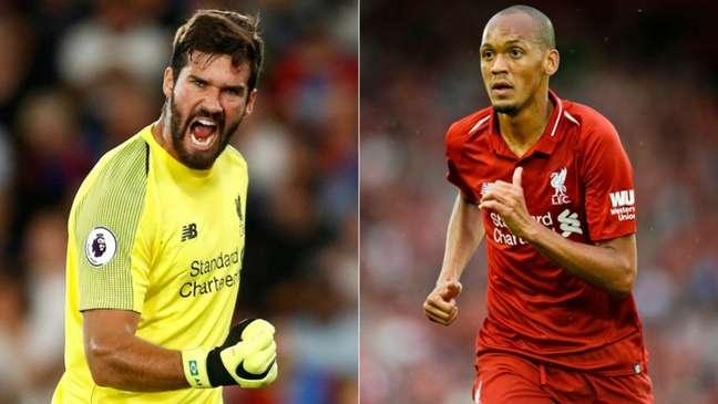 Alisson e Fabinho devem renovar com o Liverpool (Divulgação)