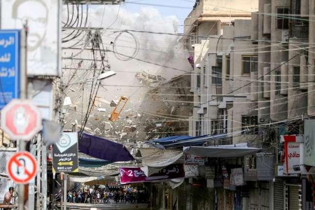 Região de Khan Younis, no sul da Faixa de Gaza  20/5/2021   REUTERS/Ibraheem Abu Mustafa