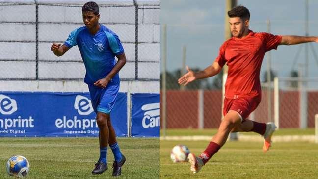 Gabriel e Dudu se enfrentam na decisão do Campeonato Alagoano (Montagem Lance! Fotos: SMG)