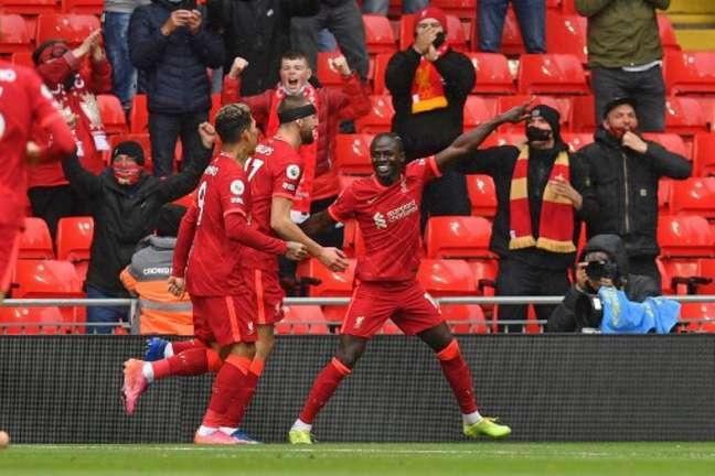 Liverpool venceu o Palace neste domingo (Foto: PAUL ELLIS / POOL / AFP)