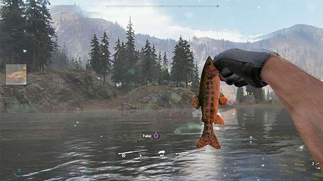 Faça movimentos e canse o peixe antes de puxá-lo