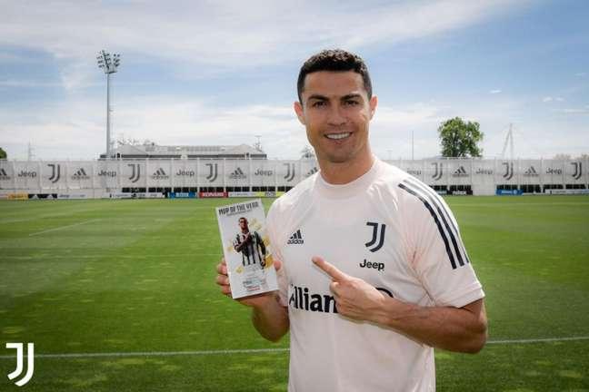 CR7 foi eleito o jogador do ano (Foto: Divulgação/Juventus)