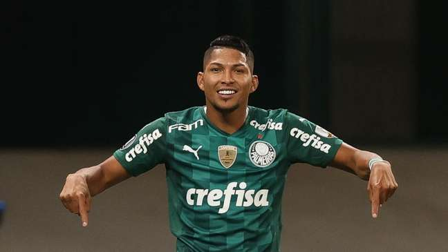 Rony comemora contra o Del Valle, no Allianz Parque (Foto: Cesar Greco/Palmeiras)