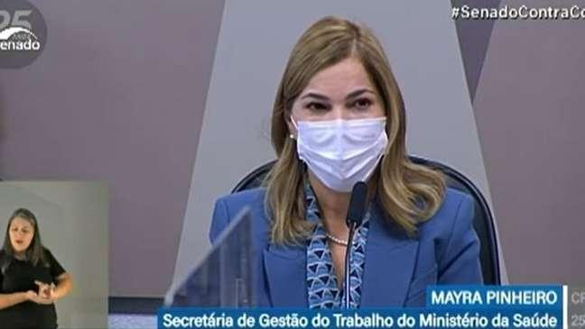 Mayra Pinheiro depõe à CPI da Covid