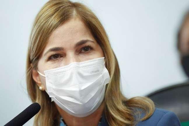 Secretária de Gestão do Trabalho e da Educação na Saúde do Ministério da Saúde, Mayra Pinheiro, presta depoimento à CPI da Covid 25/05/2021 REUTERS/Adriano Machado