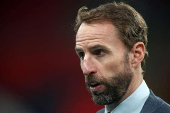 Gareth Southgate, técnico da Inglaterra (Foto: NICK POTTS/POOL/AFP)