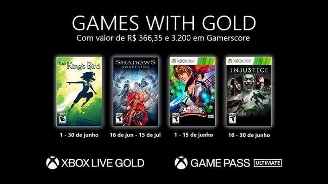 Games do Xbox Live Gold de junho
