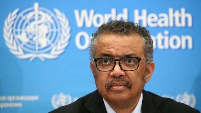 Diversas das notícias falsas envolviam a Organização Mundial de Saúde, atualmente dirigida por Tedros Adhanom Ghebreyesus
