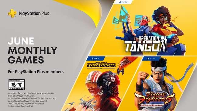 Jogos PS Plus junho