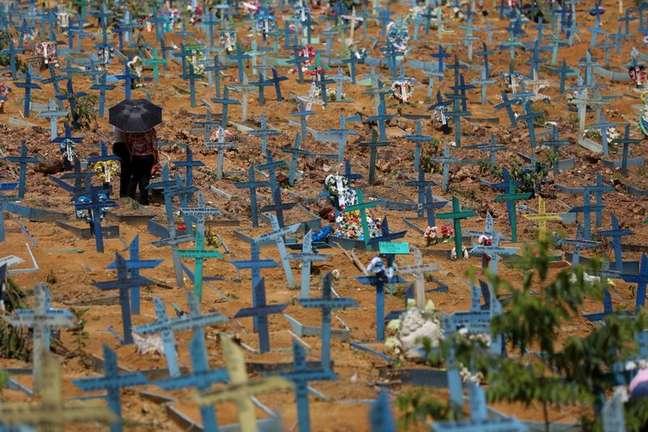 Cemitério em Manaus (AM) em meio à pandemia de coronavírus  07/05/2021 REUTERS/Bruno Kelly