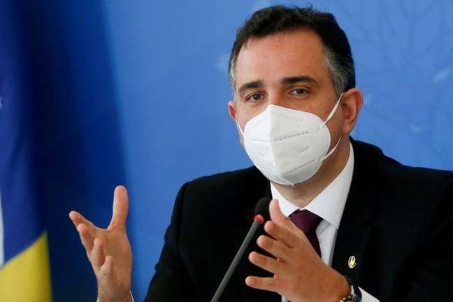 Rodrigo Pacheco, presidente do Senado  14/04/2021 REUTERS/Adriano Machado