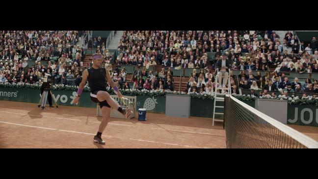 Rafael Nadal faz embaixadinha na quadra em filme que fala sobre a participação das mulheres nos esportes, e a importância de seguirem seus sonhos.