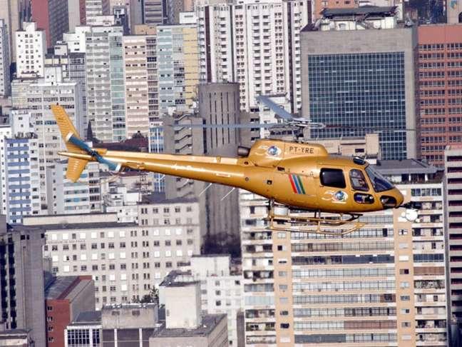 O antigo 'Águia Dourada', da Record TV, helicóptero que ganhou fama por ser usado em grandes coberturas jornalísticas