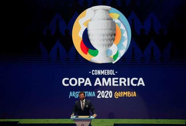 Copa América de 2021: Brasil sediará evento em meio ao recrudescimento da pandemia de covid-19 na América do Sul 03/12/2019 REUTERS/Luisa Gonzalez/Foto de Arquivo
