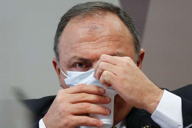 Ex-ministro da Saúde Eduardo Pazuello 19/05/2021 REUTERS/Adriano Machado