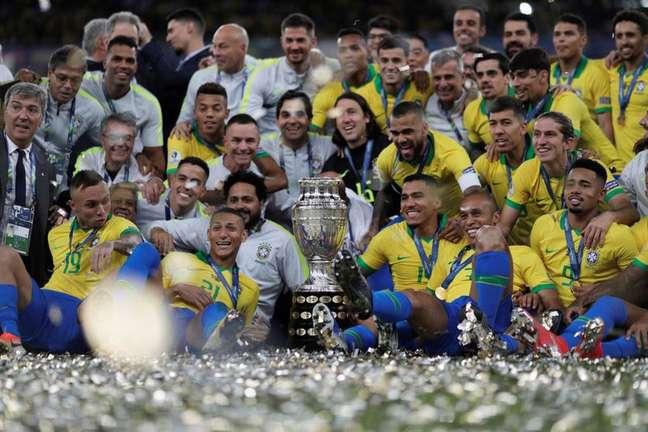 Campeão em 2019, o Brasil surge de novo como favorito ao título da nova edição da Copa América    7/7/2019       REUTERS/Ueslei Marcelino