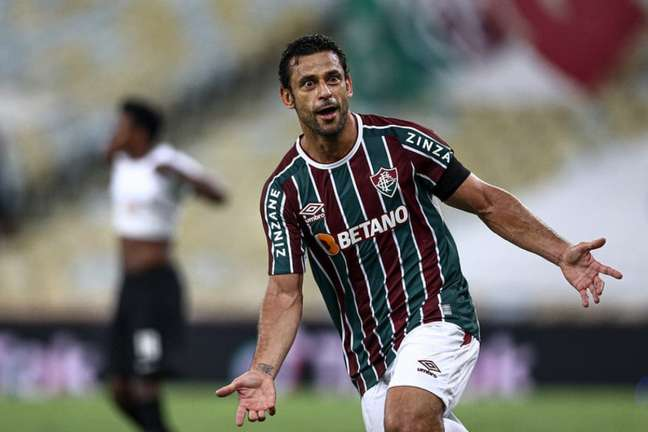 Fred abriu o placar para o Fluminense na partida no Maracanã (Foto: LUCAS MERÇON / FLUMINENSE F.C.)