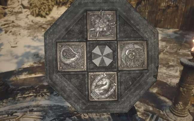 Logo da Umbrella em Resident Evil Village