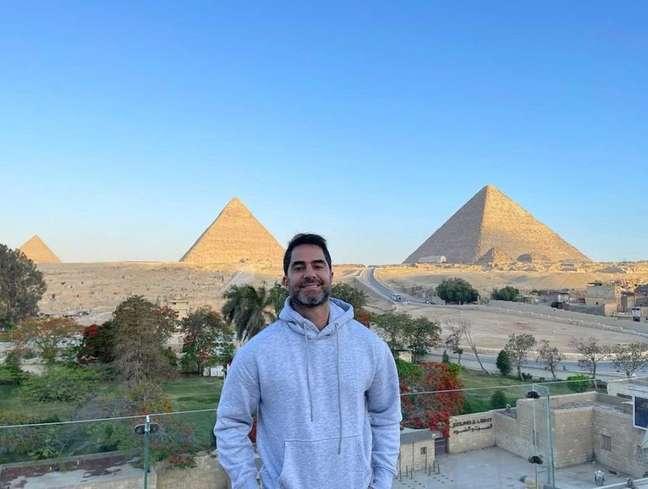 Médico Victor Sorrentino no Egito.