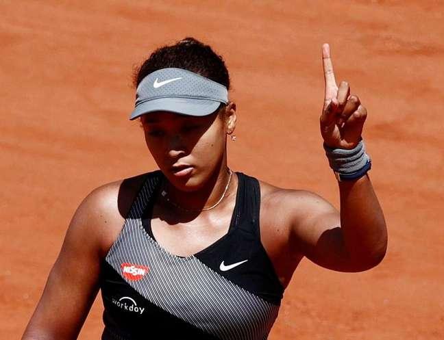 Naomi Osaka durante partida de Roland Garros 30/05/2021 REUTERS/Christian Hartmann