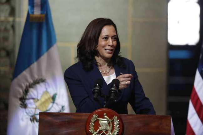 Kamala Harris em visita oficial à Guatemala