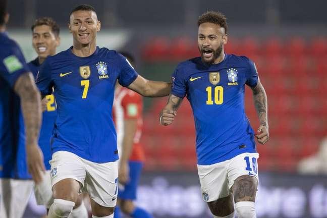 Neymar marcou seu gol logo no início da partida (Lucas Figueiredo/CBF)