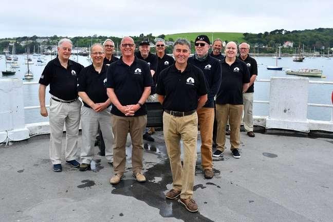 Grupo local de canções de marinheiro Bryher's Boys no Reino Unido 09/06/2021 REUTERS/Dylan Martinez