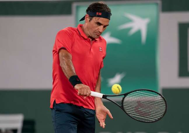 Roger Federer durante Aberto da França em Paris Susan Mullane-USA TODAY Sports