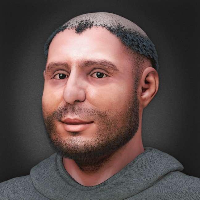 A reconstituição facial revelou um Santo Antônio mais rechonchudo do que normalmente se imagina e com sintomas da hidropisia