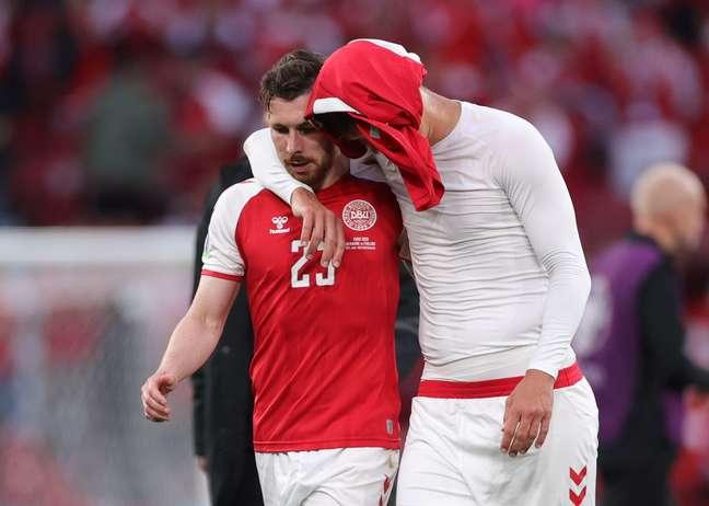 Dinamarca enfrentou a Finlândia neste sábado (12) pela Eurocopa